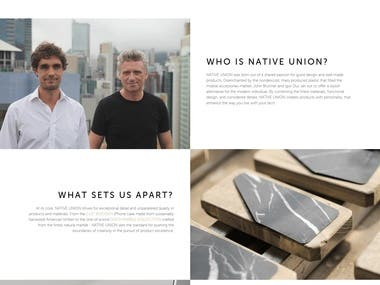 NativeUnion E commerce website