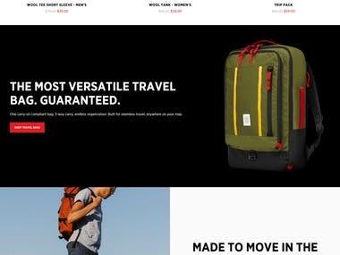 TopDesign E commerce website