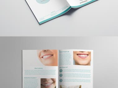 Perlatory Dental Lab Brochure Design
