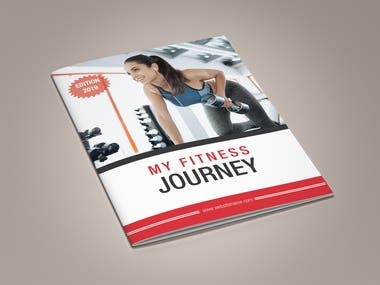 Fitness Product Promotion Brochure Design Template