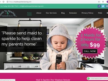 Maid to Sparkle Cleaning Website