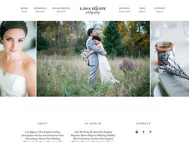 wedding vwebsite