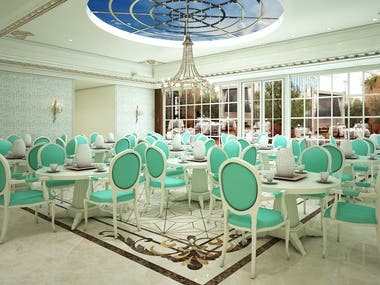 Design and 3D Rendering of Afternoon Tea by using 3ds Max