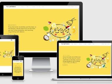 Pure Light Botanics (CMS, HTML, Bootstrap, PHP, Shopify)