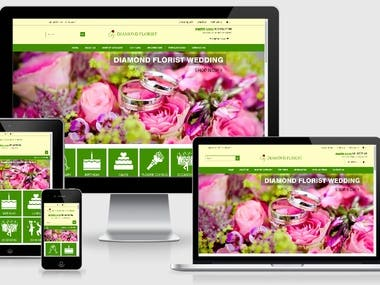 Diamond Florist (Wordpress, CMS ,HTML 5, PHP, Open Cart)