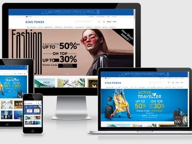 King Power (Wordpress, CMS, HTML 5, Bootstrap, PHP)