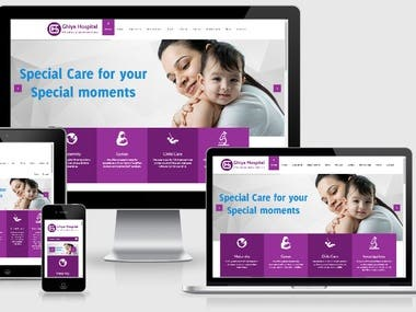 Ghiya Hospital (Wordpress, PHP , HTML 5, Bootstrap, CMS)