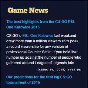 Steam News Widget