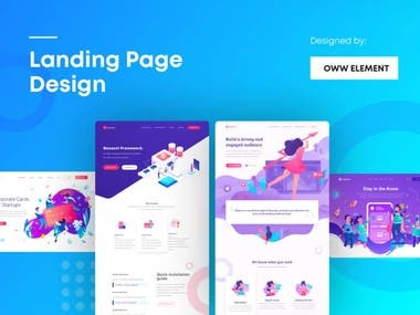 I Will design a modern and responsive landing page
