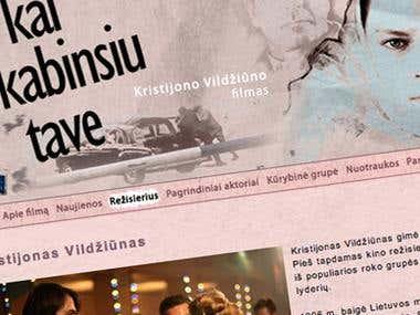 Website for a movie