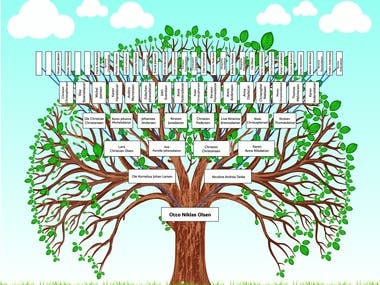 Family Tree | Genealogy | Illustration | Vectorization