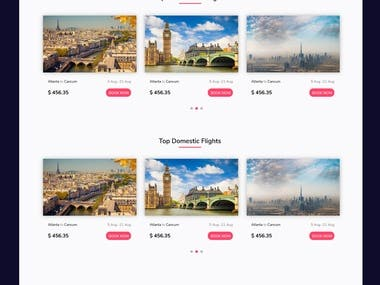 Travel Web Portal Design