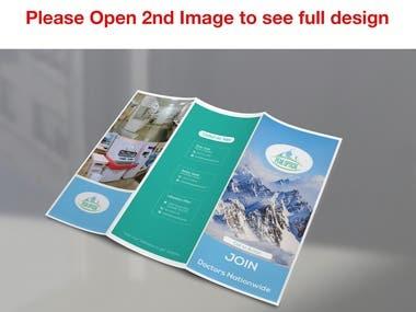 Peak Optical Trifold Brochure Template