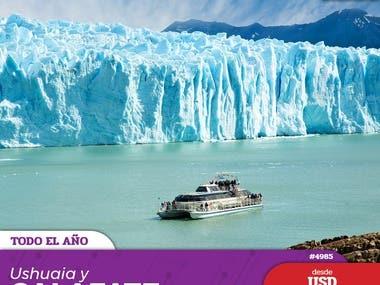 Diseño de Posteos diarios para Agencia de Viaje