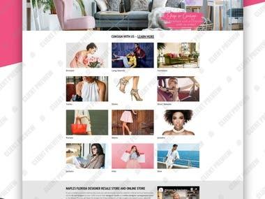Website for True Fashionistasresale