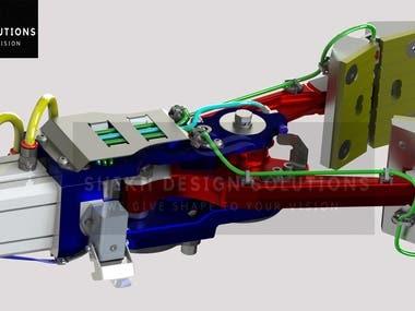 Pneumatic Gripper mechanism Design