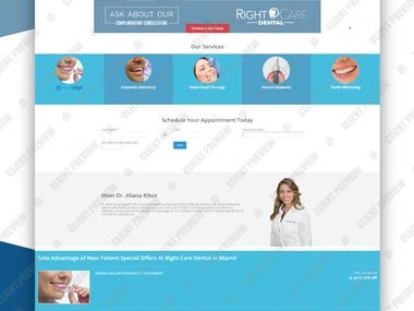 Website for Right Care Dental