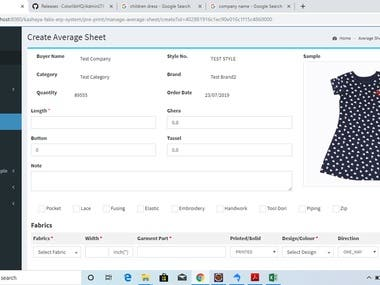ERP solution for garments manufactures