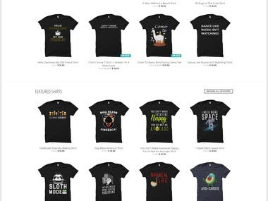 Tshirts Website