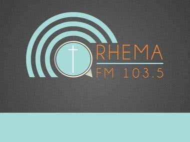 Rhema 103.5 FM Logo Design