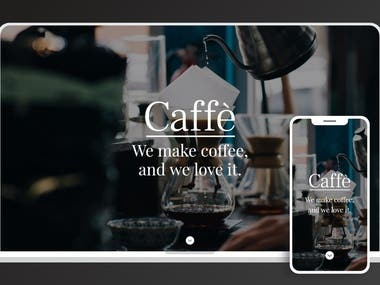 Coffee shop demo website