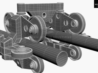 Rollar Coaster Wheel Assembly Illustration