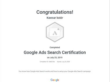 Google Ads Search Certification