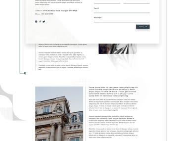 Sculpture portfolio website