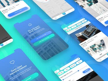 Selling or renting real estate app design