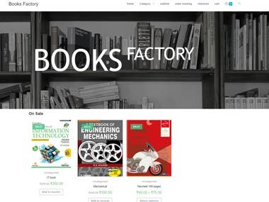 Website of Book Seller