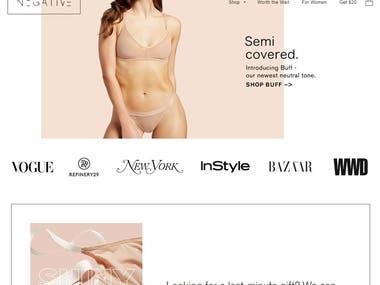 Negative Underwear online store
