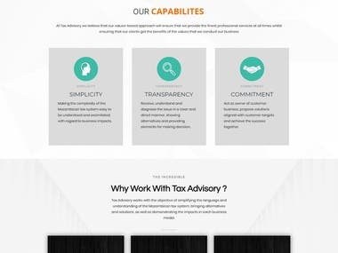 Accountant, Legal services Website
