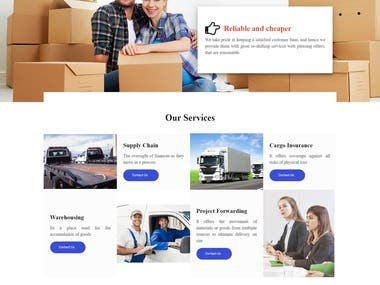 Logistic Services website