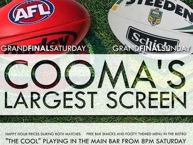 Cooma Hotel Grand Final Advertising