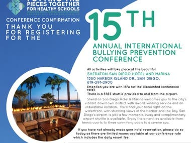 IBPA San Diego Confirmation Flyer
