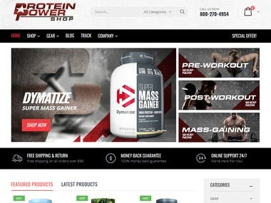 ProteinPowerShop Website