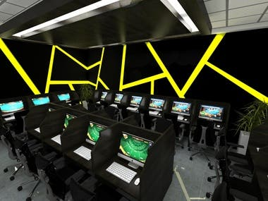 Baccarat Cyber Cafe Design