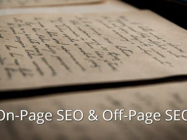 (ON-Page + OFF-Page SEO)