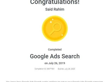 Google Ad Search Certification
