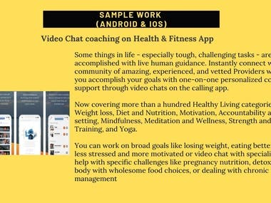 Android & iOS Application for Fitness & Dating