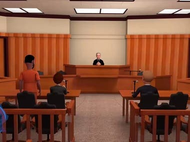 Smart watch 3D animation in court