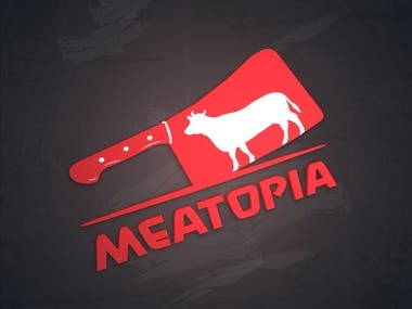 Logo made for Meatopia meat company