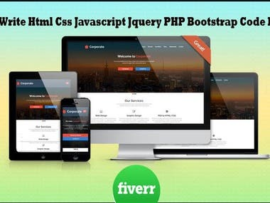 I Will Write Html Css Javascript Jquery Bootstrap Code For U