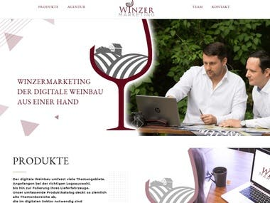 Web Development - Wordpress CMS - Winery Homepage