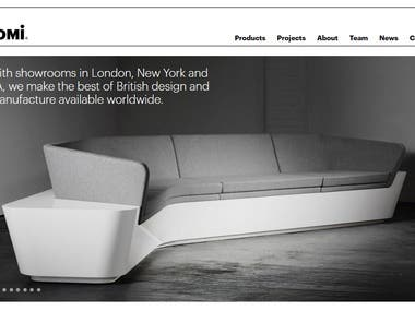 Isomi Furniture Showcases Website