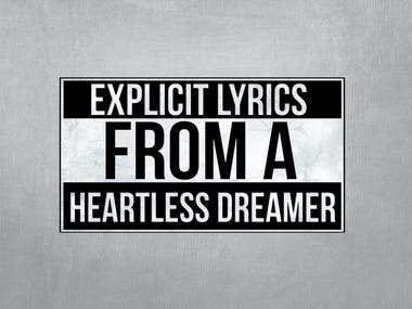 Explicit Lyrics From a Heartless Dreamer Banner