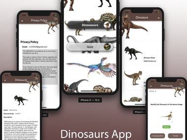 Dinosaurs App for Baiju R.