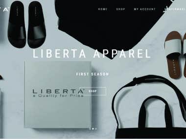 E- Commerce   www.libertaapparel.com