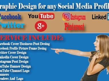 I will design facebook,twitte,linkedin,youtube banner and lo