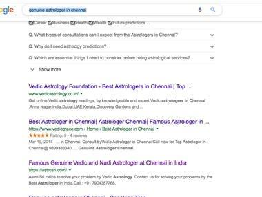 Search Engine Marketing(SEO)